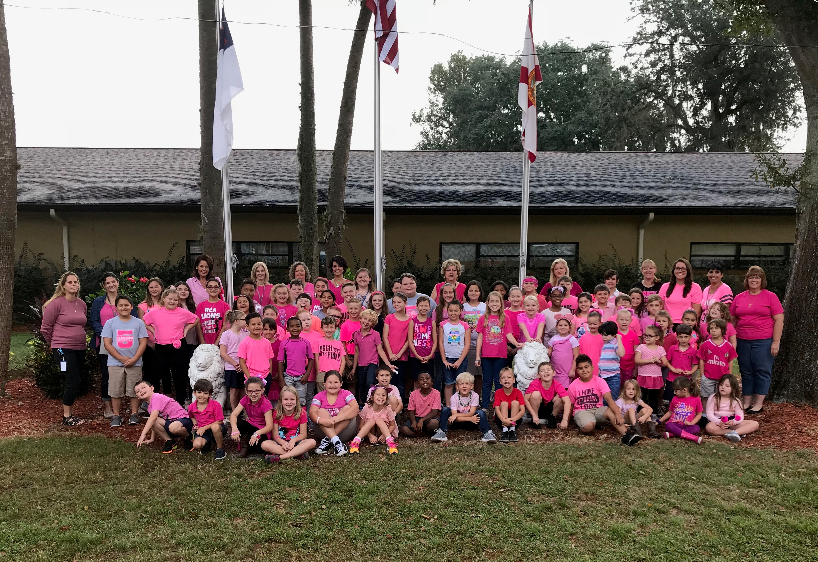 Pink-Out Day at HCA in Support of Breast Cancer Awareness